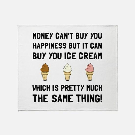 Money Buy Ice Cream Throw Blanket