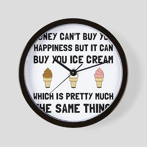 Money Buy Ice Cream Wall Clock