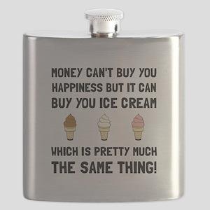 Money Buy Ice Cream Flask
