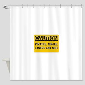 Pirates Lasers Ninjas Shower Curtain