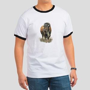 Watercolor Buffalo Bison Animal Art T-Shirt