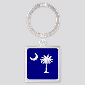 Palmetto Moon State Flag Square Keychain