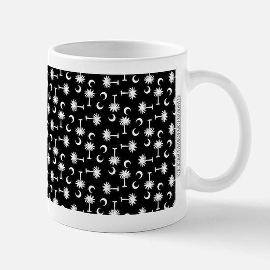 SC Palmetto Moon Flag Black Mug