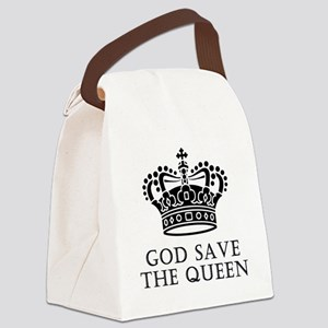 God Save The Queen Canvas Lunch Bag