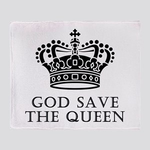 God Save The Queen Throw Blanket