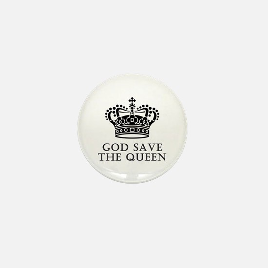 God Save The Queen Mini Button