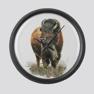 Watercolor Buffalo Bison Animal Art Large Wall Clo