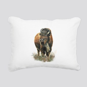 Watercolor Buffalo Bison Animal Art Rectangular Ca