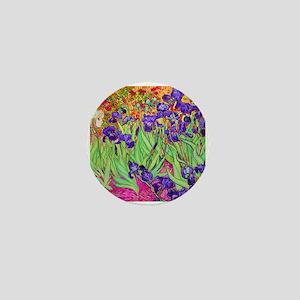van gogh purple iris Mini Button