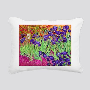 van gogh purple iris Rectangular Canvas Pillow