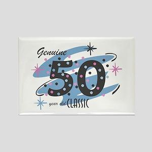 Classic 50 Confetti Rectangle Magnet