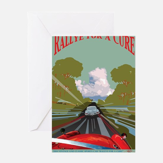 Rallye for a Cure Poster for 2014 Greeting Card