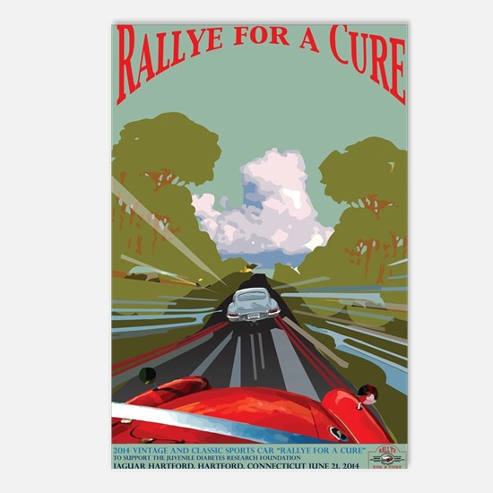 Rallye for a Cure Poster  Postcards (Package of 8)