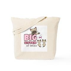 Big Sister of Twins (Kitty) Tote Bag