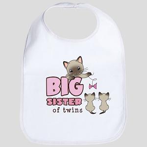 Big Sister of Twins (Kitty) Bib