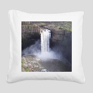 Palouse Falls Square Canvas Pillow