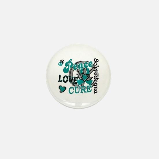 Scleroderma Peace Love Cure 2 Mini Button
