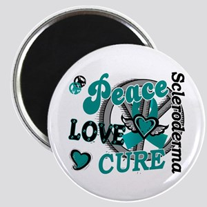 Scleroderma Peace Love Cure 2 Magnet