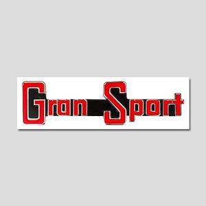 Gran Sport Logo Car Magnet 10 X 3