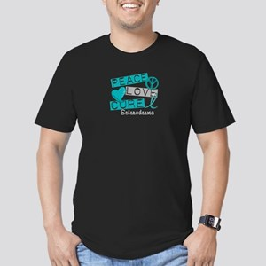 Scleroderma Peace Love Men's Fitted T-Shirt (dark)