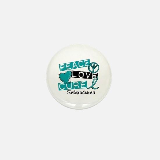 Scleroderma Peace Love Cure 1 Mini Button