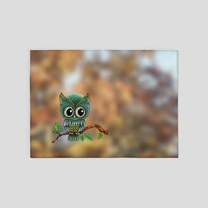 Lifes a Hoot Owl 5'x7'Area Rug