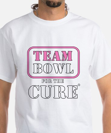TEAM Bowl for the Cure White T-Shirt