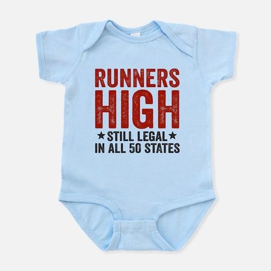 Runner's High. Still Legal. Infant Bodysuit