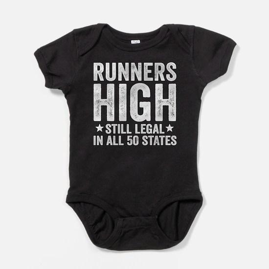 Runner's High. Still Legal. Baby Bodysuit