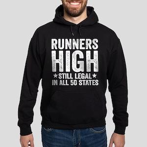 Runner's High. Still Legal. Hoodie (dark)