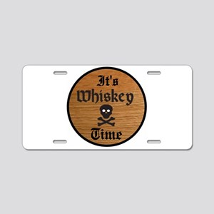WHISKEY TIME Aluminum License Plate