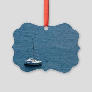 Luxury sailing catamaran Picture Ornament