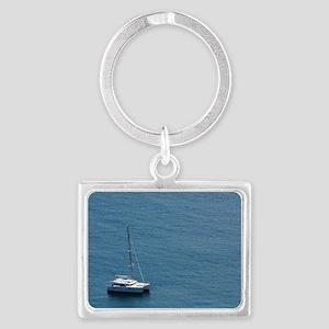 Luxury sailing catamaran Landscape Keychain