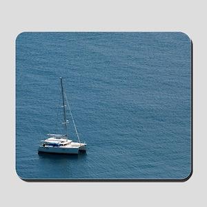 Luxury sailing catamaran Mousepad