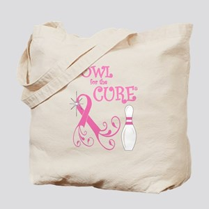 Bowl for the Cure Curly Tote Bag