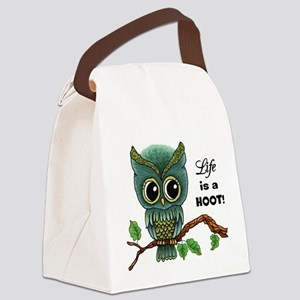 Lifes a Hoot Owl Canvas Lunch Bag