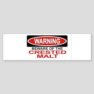 CRESTED MALT Bumper Sticker