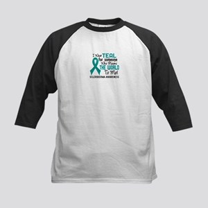 Scleroderma Means World To Me Kids Baseball Jersey