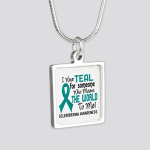 Scleroderma Means World To Silver Square Necklace