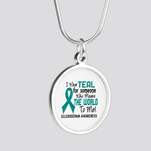 Scleroderma Means World To M Silver Round Necklace