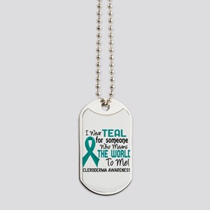 Scleroderma Means World To Me 2 Dog Tags