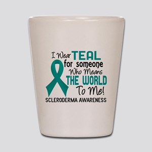 Scleroderma Means World To Me 2 Shot Glass