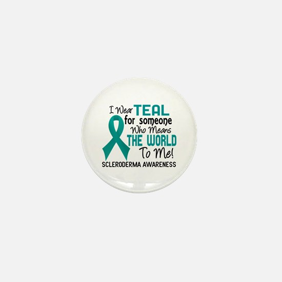 Scleroderma Means World To Me 2 Mini Button