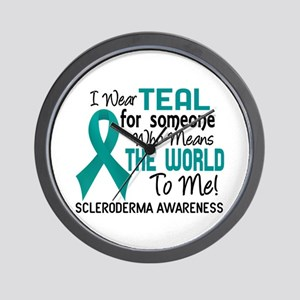 Scleroderma Means World To Me 2 Wall Clock