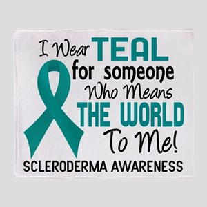 Scleroderma Means World To Me 2 Throw Blanket