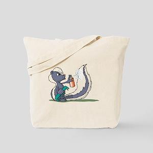 Stinky Skunk using Deodorant Tote Bag