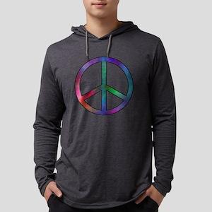 Multicolor Peace Sign Long Sleeve T-Shirt