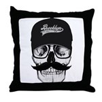 Skull Brooklyn Cap Throw Pillow