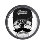 Skull Brooklyn Cap Wall Clock