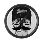 Skull Brooklyn Cap Large Wall Clock